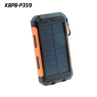 Waterproof solar power bank 10000mAh Solar Mobile phone Charger 5V 2.1A
