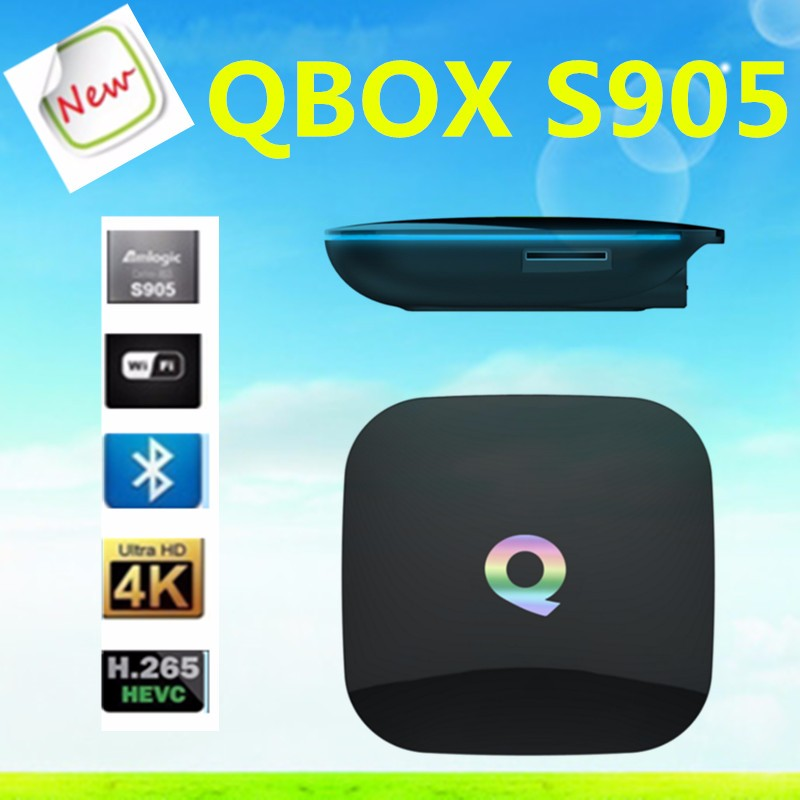 Qbox S905 2Gb Amlogic S905 Set Top Box With Dual-Band 2.4G/5G Wifi