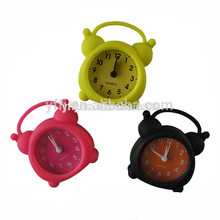 Hot sale silicone table alarm clock with CE standard