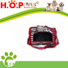 NEW ZEBRA SMALL PET CAT DOG CARRIER BLACK & WHITE W/ RED TRIM TRAVEL W/ HANDLE
