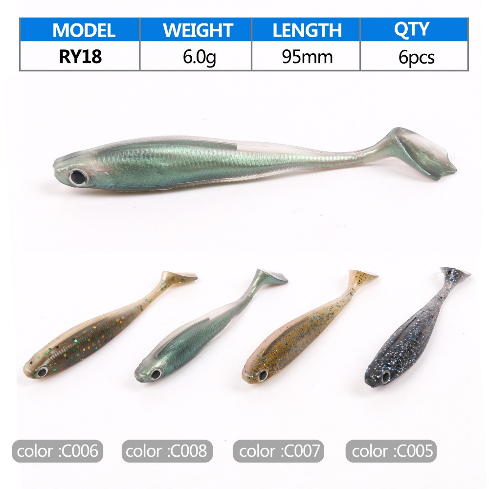 Wholesale soft fishing lure minnow swim bait with high for Cheap fishing lures bulk