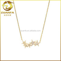 fashion girls micro pave cz silver chain necklace patterns
