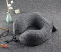 Comfort folding memory foam custom travel pillow with pocket