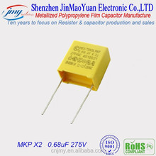 high voltage capacitors, mkp 0.68uF 275v x2 polypropylene film power capacitor p22.5mm