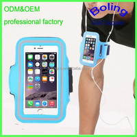 good quality outdoor running waterproof phone bag with arm strap