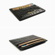 crocodile leather men business credit card holder