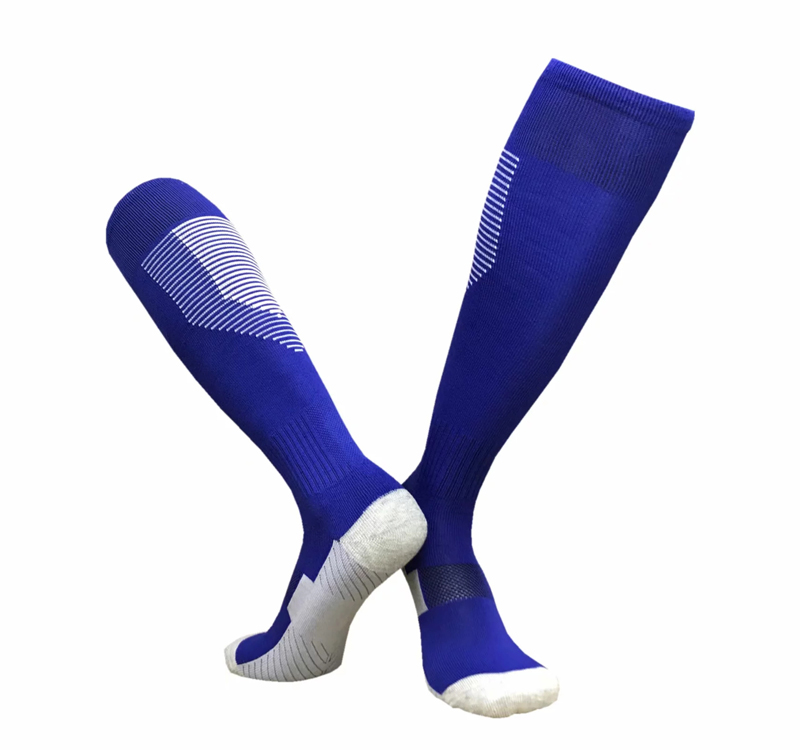 Wholesale Adult Overknee White Football Socks