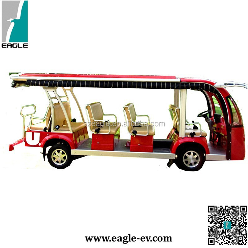 14 seaters electric bus,shuttle personnel carrier,electric vehicle,EG6158K,72V/7.5KW AC system,14-person