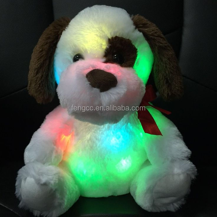 LED Night Light Up Plush Dog Toys