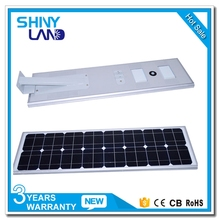 IP65 die cast waterproof dimmable aluminium housing all in one solar led streetlight