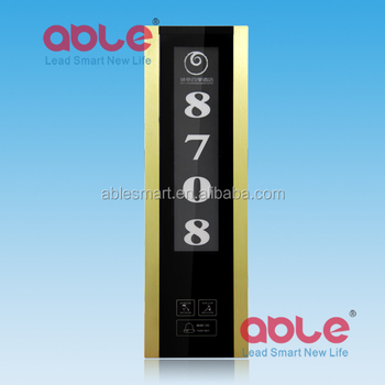 Hotel 9mm thickness ultra-large electronic touch doorplate with Room number/Do not disturb/doorbell /Clean up system