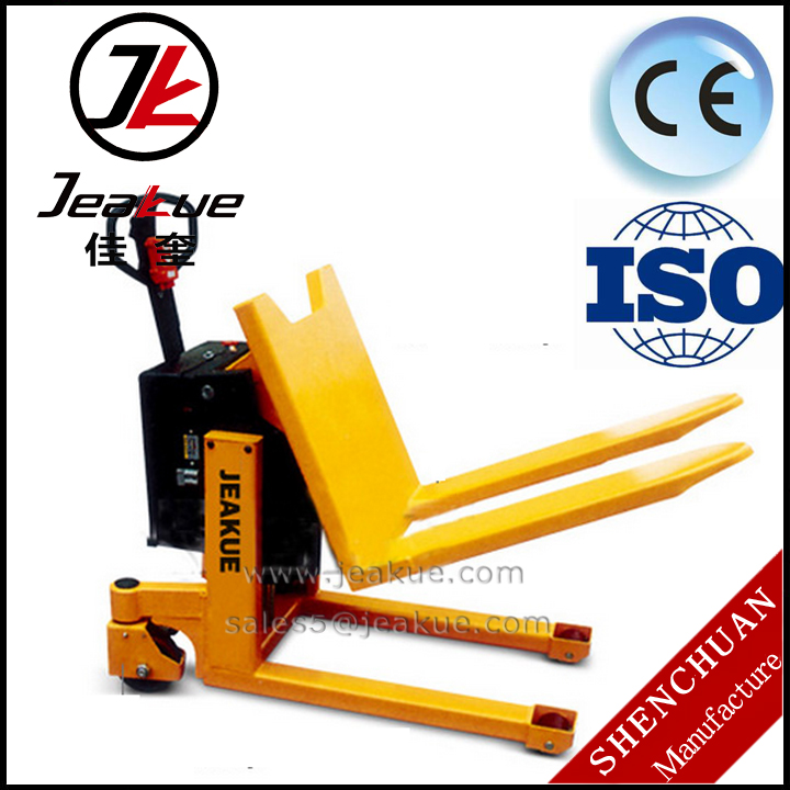 1000kg Semi electric tilting pallet truck forklift
