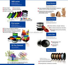 Wholesale 3d printing filament 1.75mm 3mm PA hdpe filament for 3d printer machine