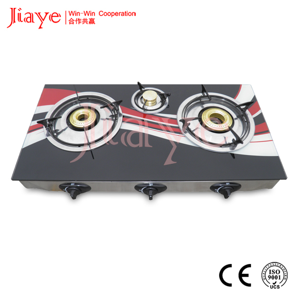 3 burner glass table gas hob/best gas cooktop/small gas stove