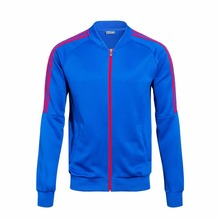 Hot sell new season top quality club blank blue soccer jacket