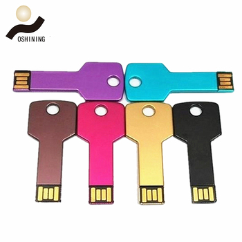 Wholesale bulk corporate gift U-disk USB Memorias Custom logo OEM Metal Key USB flash drives