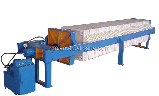 Auto filter press machine for drinking water and used water filter