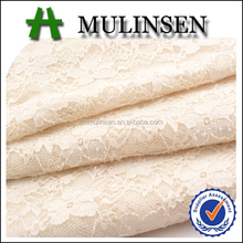 Mulinsen Textile 2016 New Collection Bridal Wedding Dress Spandex Stretch Nylon Lace Fabric