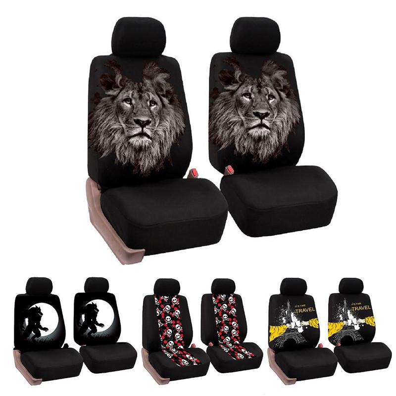 Universal Car Seat Covers Car Interior Decor Fashion Animal Pattern ...