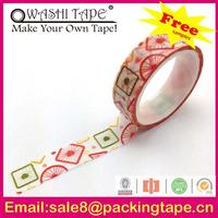 custom printed decorative printing waterproof decorative duct tape in any colors