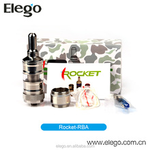 Newest and High quality the russian big rba atomizer with Replaceable Clear Tube Sales in Elego with Fast Shippment