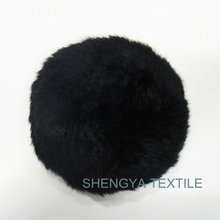 2012 women black knitted rabbit beret hat