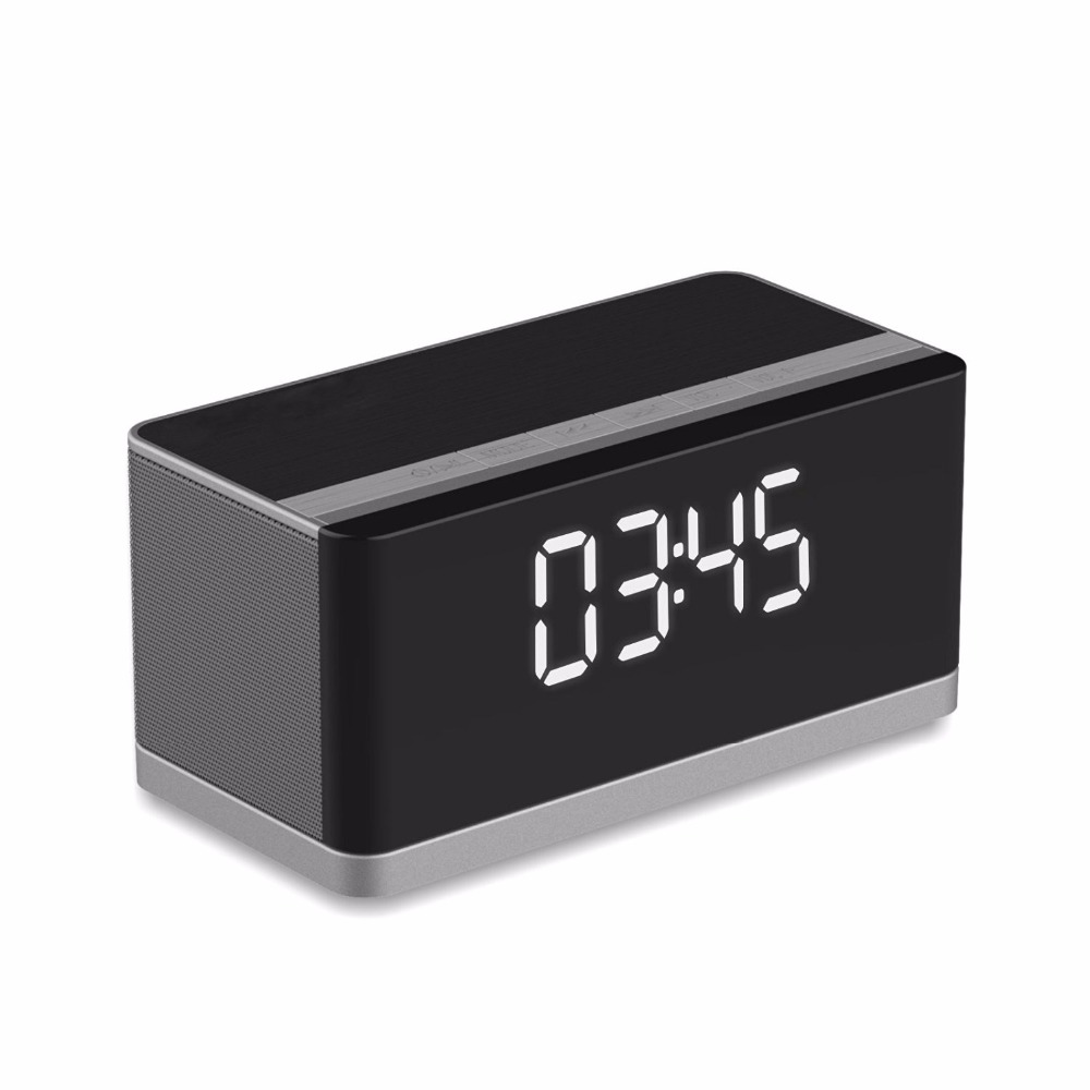 Portable Wireless Bluetooth Speaker with fm radio and clock 10W LED Diaply fit for All Bluetooth Device
