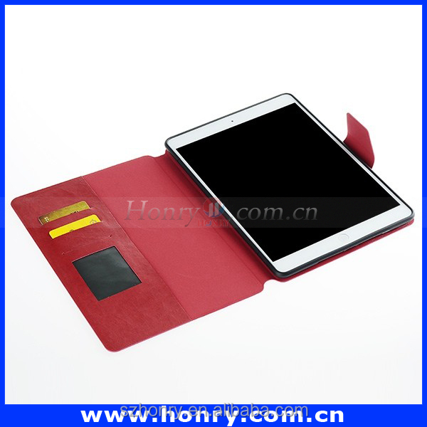 For iPad 5 case Ultra Thin simple Flip PU Leather Wallet Case with card holder