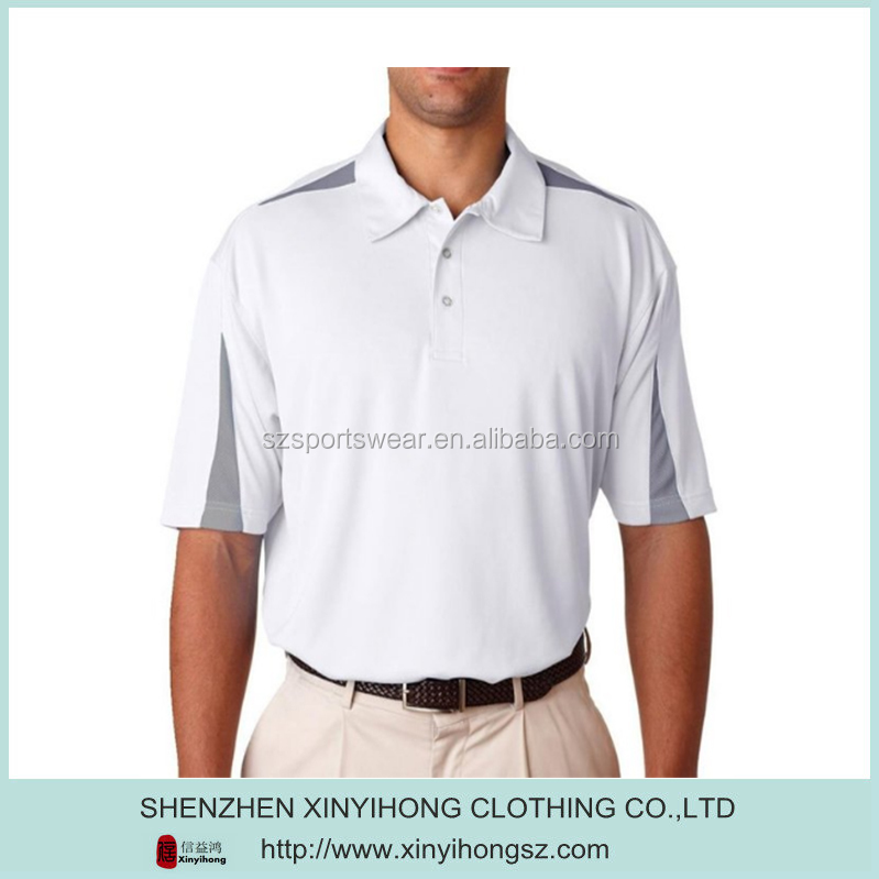 custom man tailored fit xxxl golf shirts with dir fit fabric