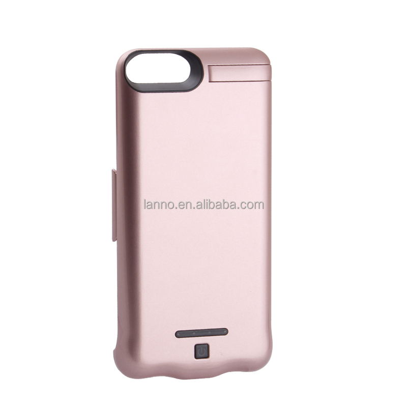 New Product 8000mAh Battery Case Backup Power Bank Cell Phone Case Cover for iPhone 7 Charger Protective Cover