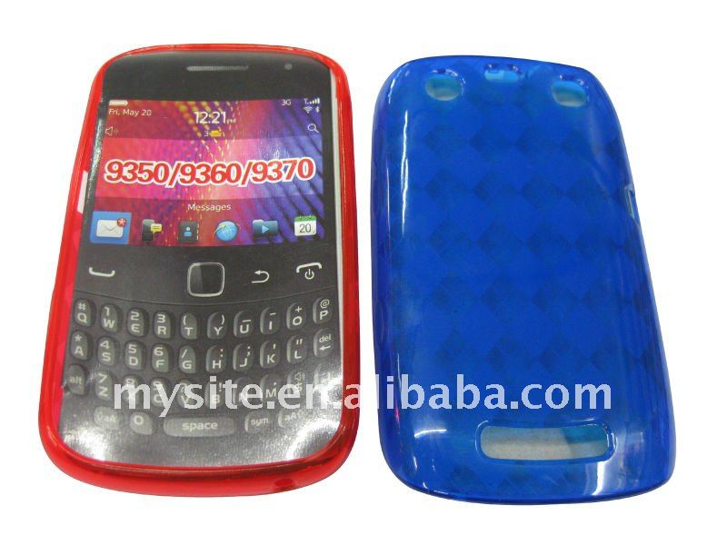 Cell Phone TPU Gel Case Covers for BlackBerry Curve 9350/9360/9370