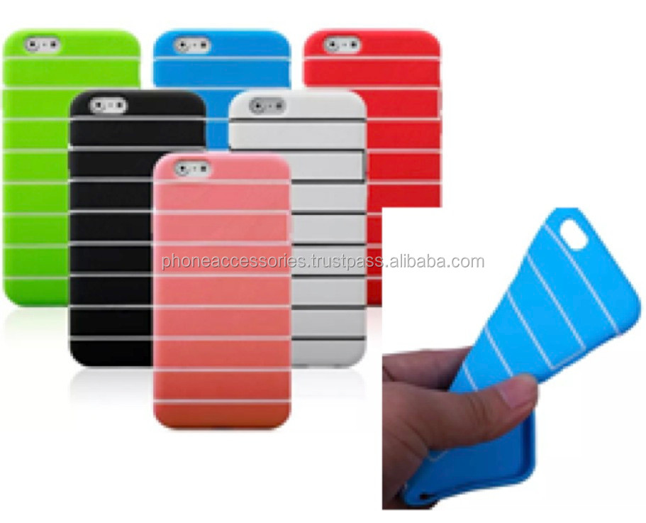 Flex-hybrid Stripe Style colorful tpu case for iPhone 6, iPhone 5 and iPhone 4 and for Samsung S5 and Note 3