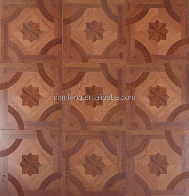 Eco-friendly design Oak parquet Waterproof laminate flooring 12mm