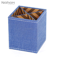Naham Denim Style Office Stationery Organizer Pencil Pen Holder