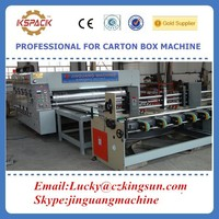 carton box making machine auto Corrugated cardboard Flexo printer slotter die-cutter stacker machine with 2 color printing