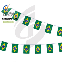 National country good quality string customized bunting flags