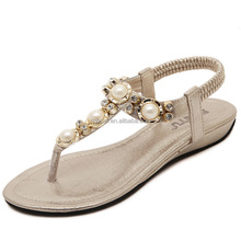 New Summer style flip flops beaded Bohemia fashion women flats sandals for ladies