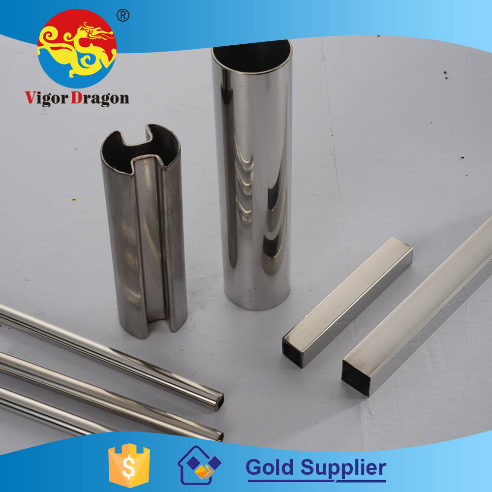 Quality Assured Medical Equirement Satin Oval Or Round Ss 304 Pipe