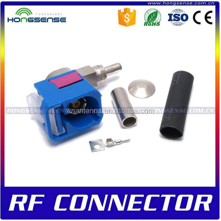"Wholesale 20CM 8"" RG174 F Male Plug Connector to FAKRA Female Jack Connector Cable Adapter"