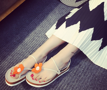 Women shoes rubber sole flip flop slipper beach slipper