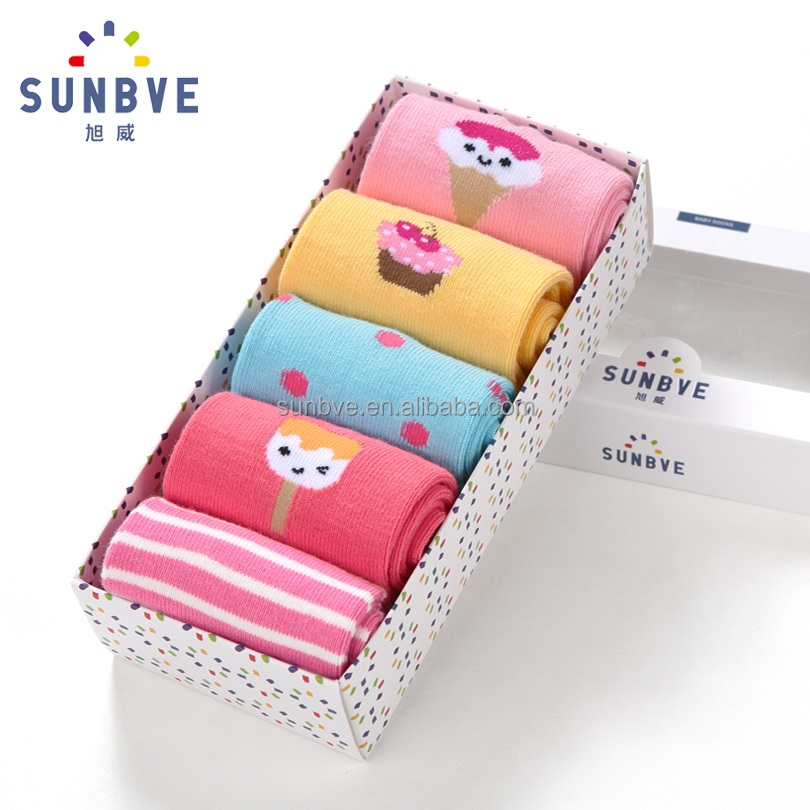 cuties' vivid color seamless design cotton made ankle socks