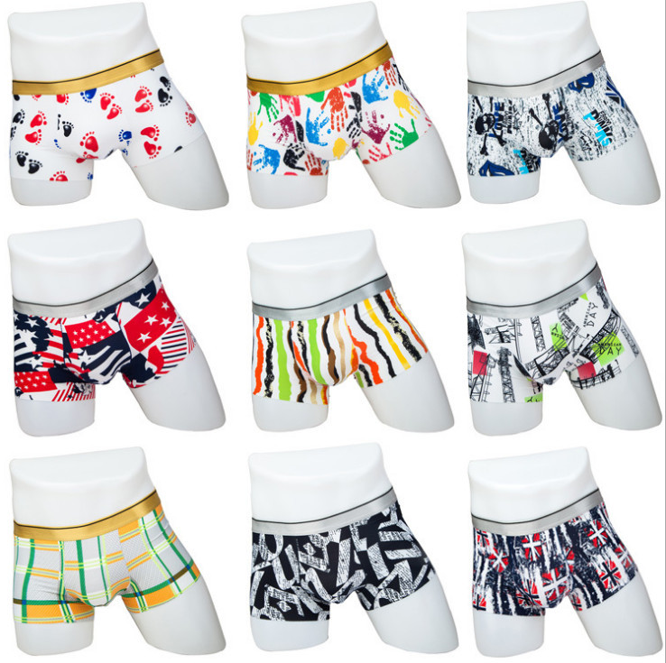 Free movement elastic fashion men boys underwear cool soft mens boxer short panty underwear wholesale