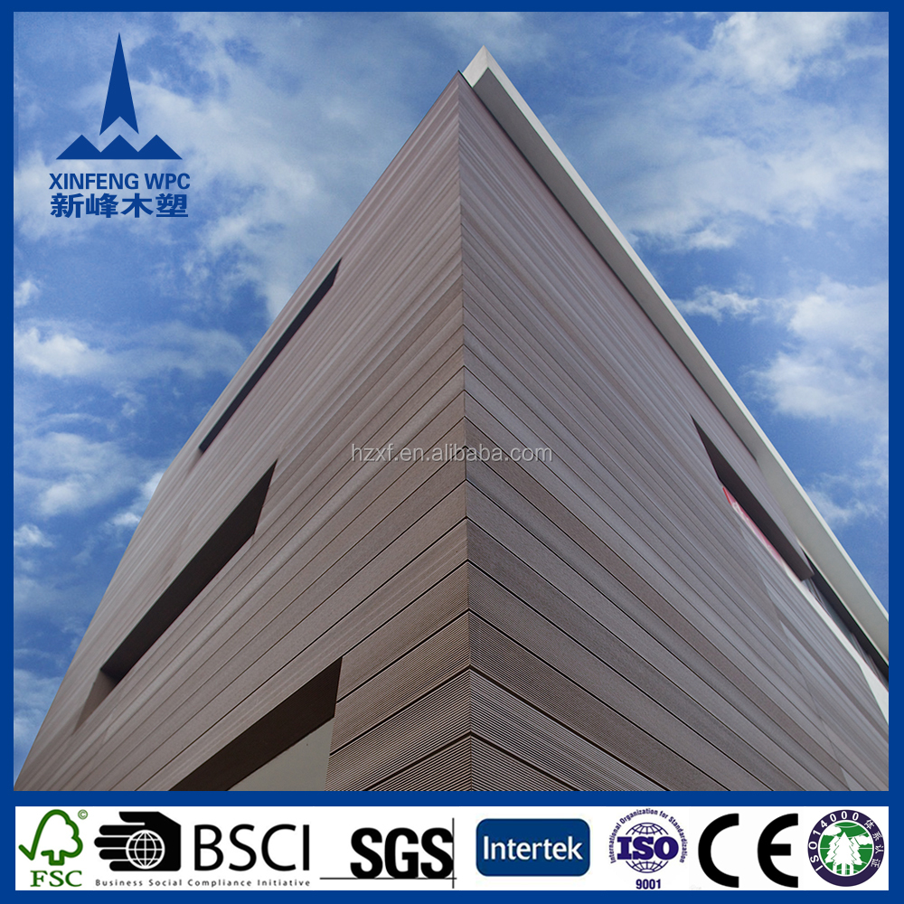 Durable waterproof wood plastic composite siding, cheap engineered wood siding