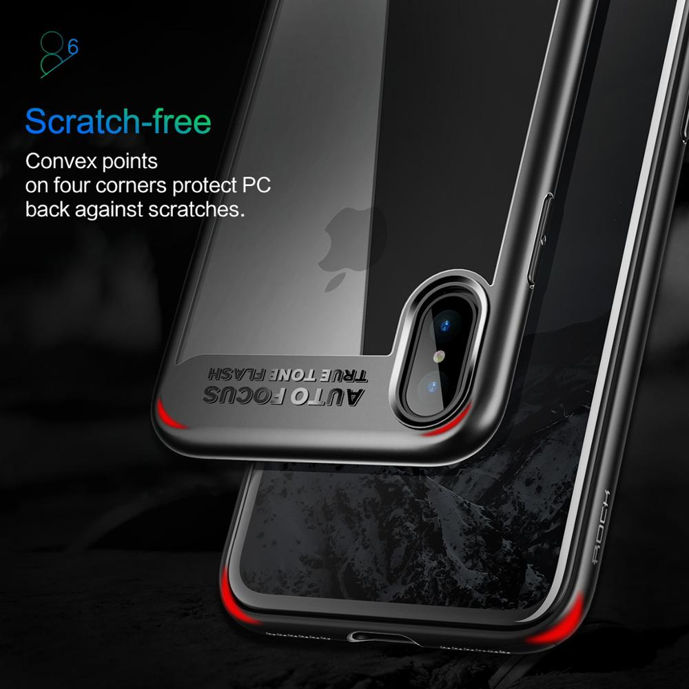 ROCK Clear Case For iphone X Transparent PC Back Case Protective TPU Case For iphone X JD-6647