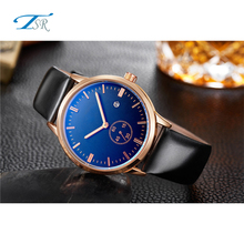 Wholesale High Performance Super Quality Fashion Alloy Gold chronograph blue male Watches Men