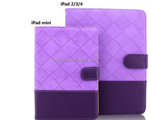 mini leather for ipad 2 case,for ipad 2 3 4 stand case