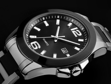 2015 hot sale geneva quartz stainless steel back water resistant watch
