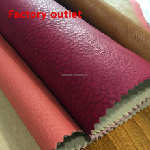 54/55'' Width Stock size litchistria PVC leather soft leather for sofa, furniture, bags