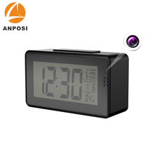 Hot sale wifi spy desk clock hidden camera for room
