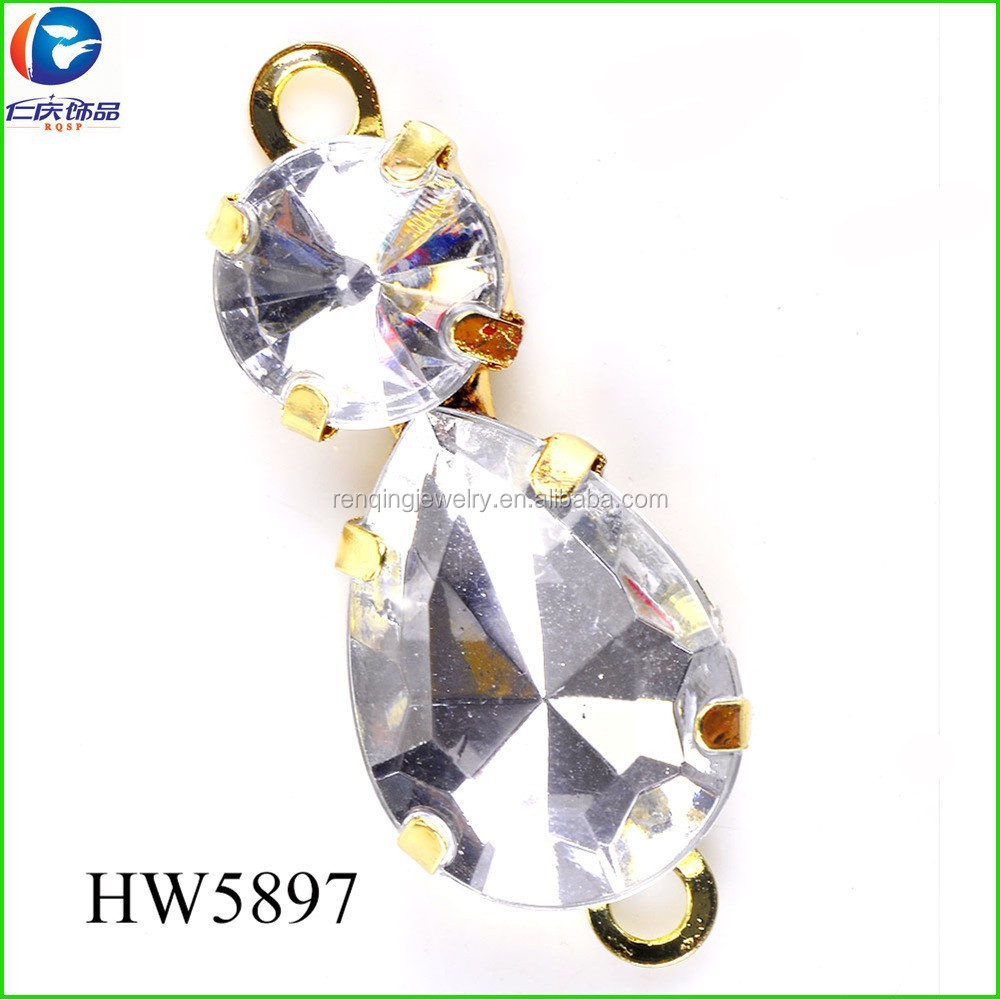 HW5897 plastic shoe buckles <strong>16</strong> <strong>K</strong> imitation gold accessories for women shoes